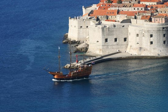 Old city walls in Dubrovnik