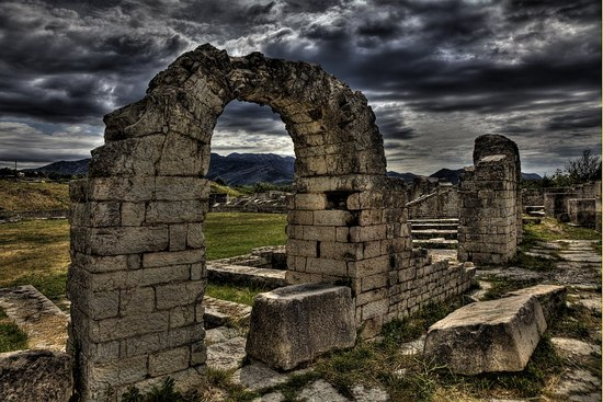 The remnants of the Roman amphietheatre in Salona