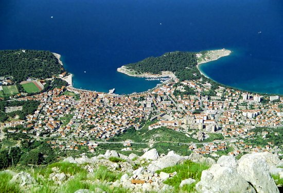 Panoramic view of Makarska town